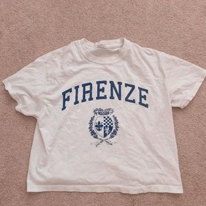 brandy cropped tee